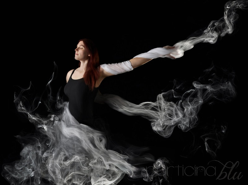 beautiful girl smoke art photography