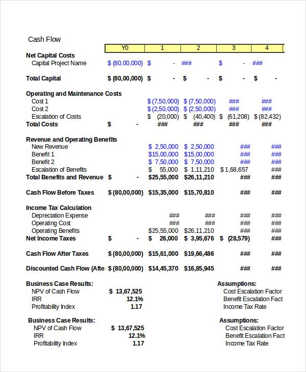 cash-flow-business-case-spreadsheet-template