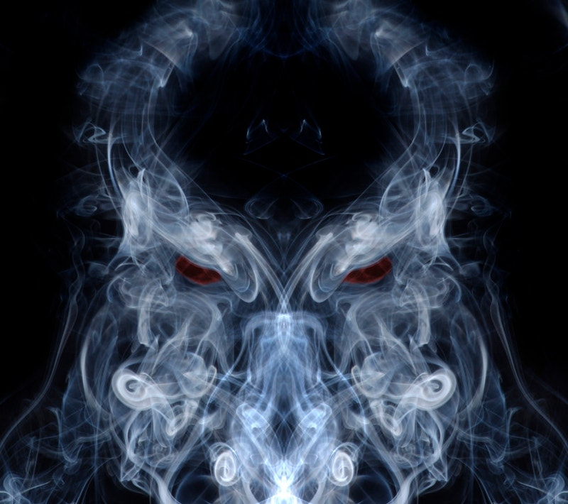 owl smoke art photography
