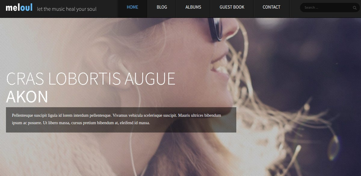 Music Studio Joomla Website Template $48