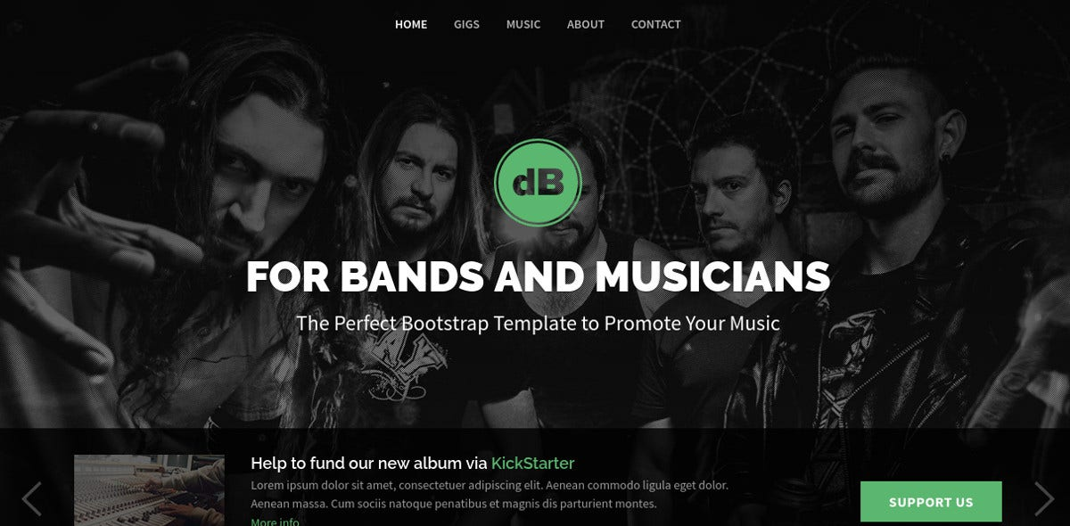 Music Band & Dance Events Joomla Website Template $48