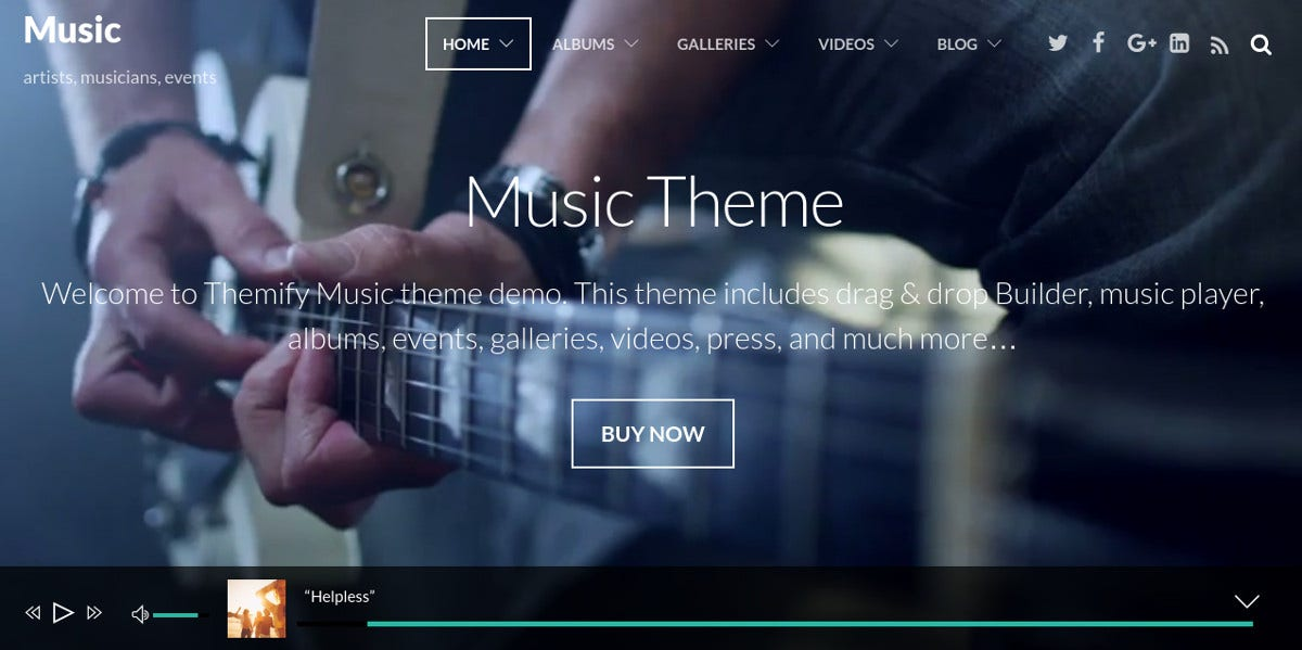 Music & Events Band WordPress Website Theme