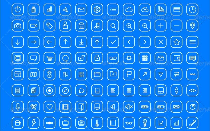 490-modern-simple-thin-line-icons