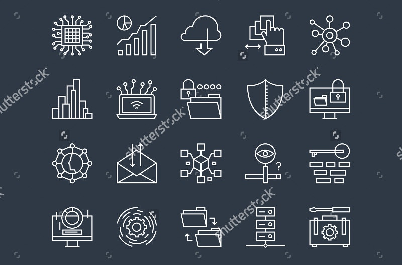 cloud-computing-line-icons-set