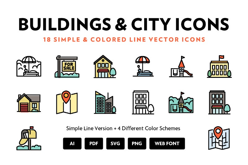 city-location-line-icons