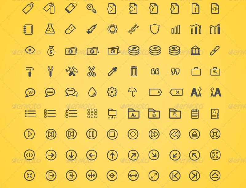 450-minimal-lines-icons-set