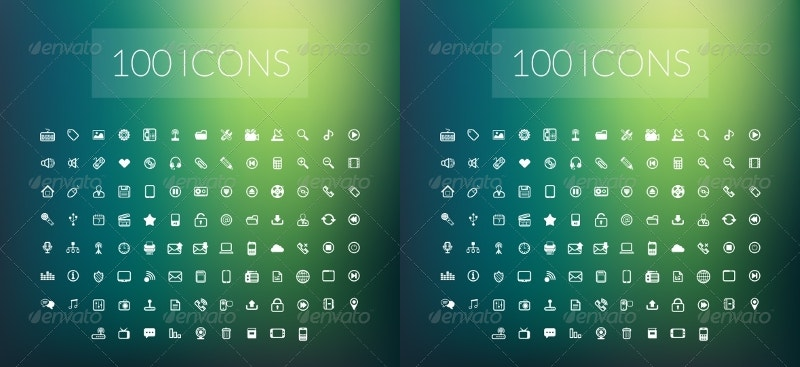 set-of-100-modern-line-icons