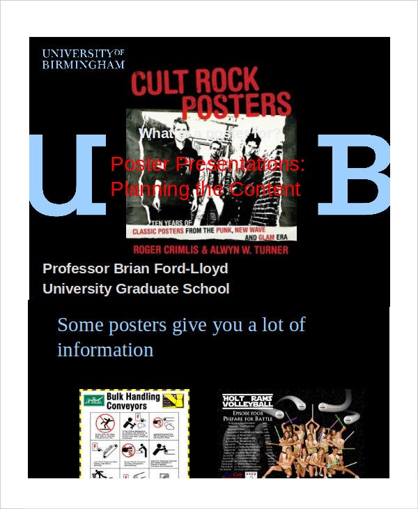 poster preparation presentation