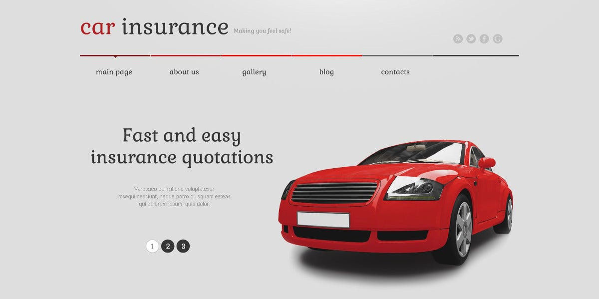 Car Insurance & Motorcycle Responsive WordPress Theme $75