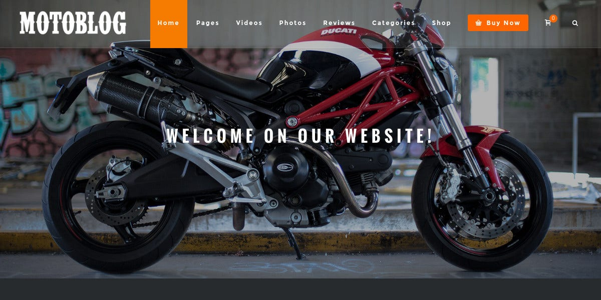 Sportscycle WordPress Theme for Motorcycle $59