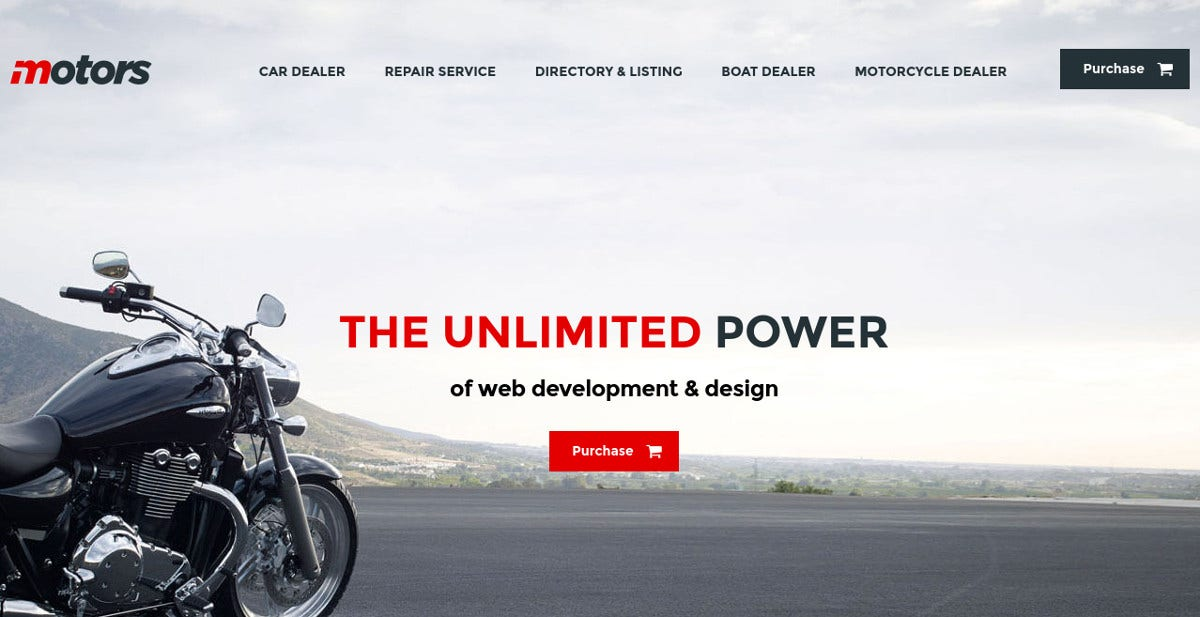 Car Dealership & Motorcycle WordPress Theme $79