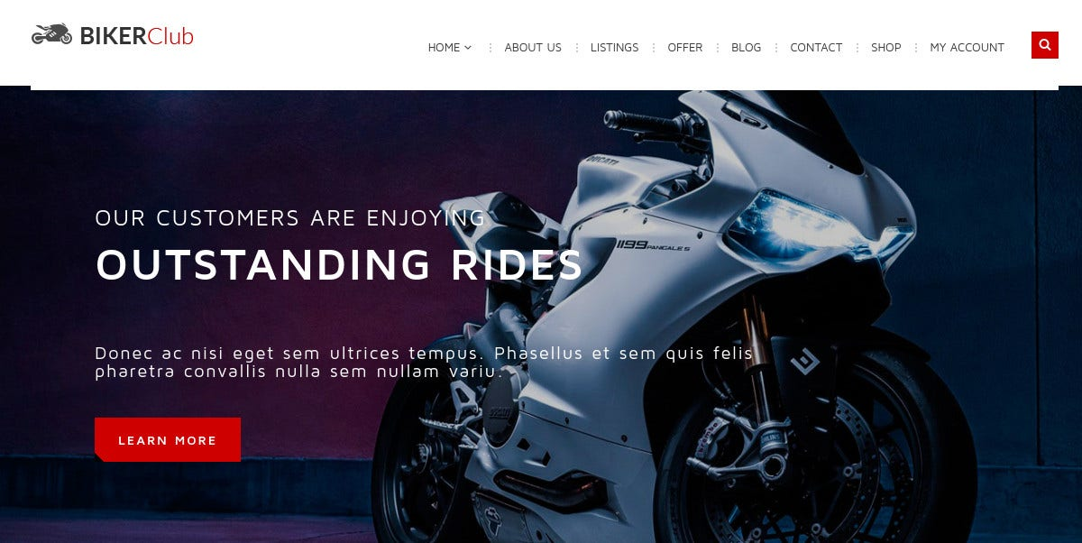 Bikes Club & Motorcycle WordPress Theme $59
