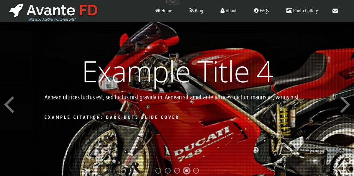 unique motorcycle wordpress theme