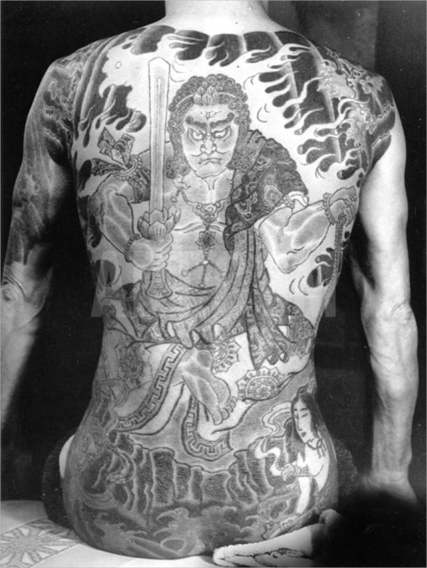 Man with Traditional Japanese Tattoo