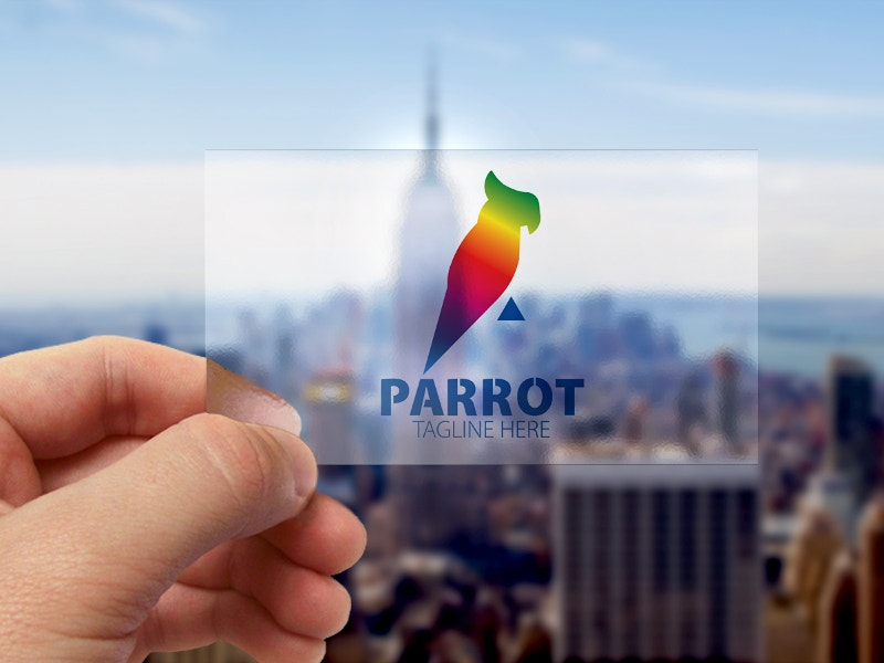 colorful parrot logo