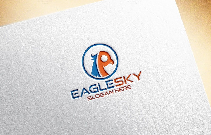 sky eagle logo template
