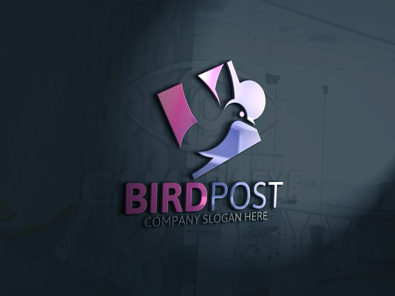 clean bird logo design