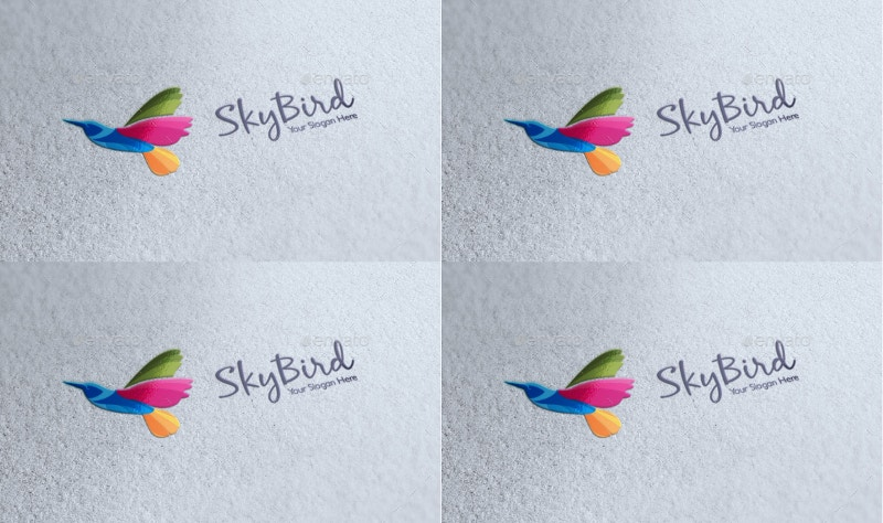 sky bird logo design1