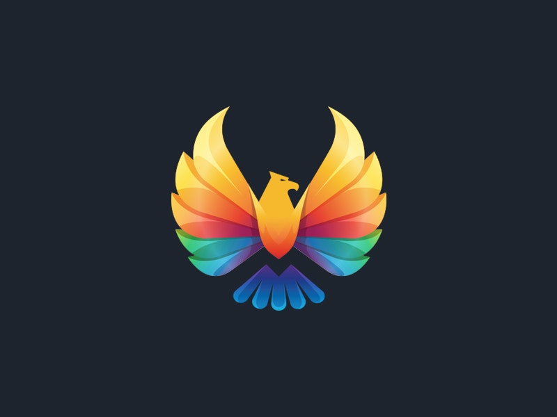 colorful eagle logo