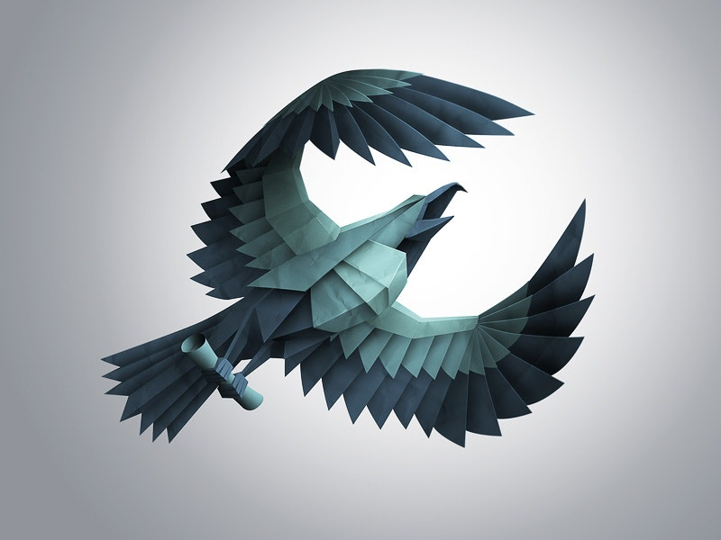 paper eagle logo design