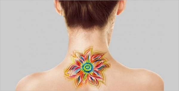 Temporary Watercolor Tattoo