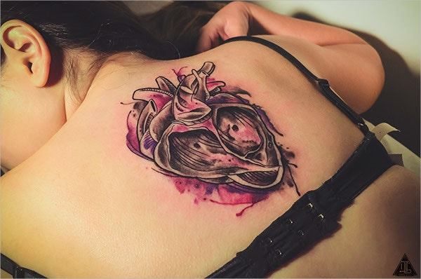 Abstract Heart Watercolor Tattoo