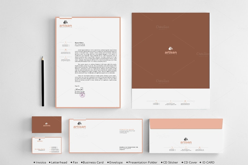 clean corporate identity mockup