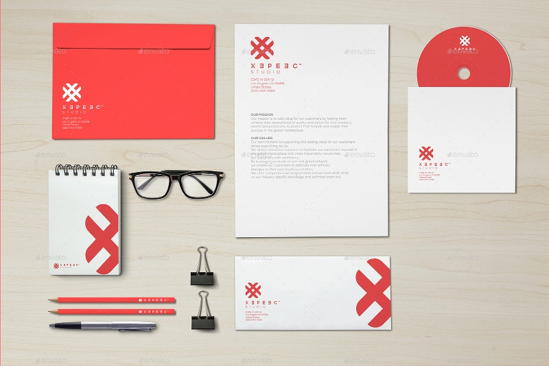 branding mockup selo l ink co