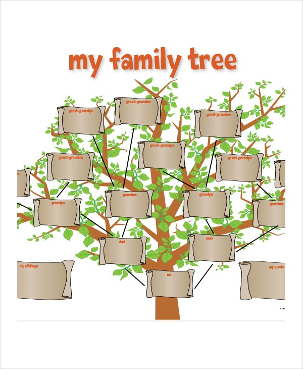 Family Tree Template - 10+ Free PSD, PDF Documents ...