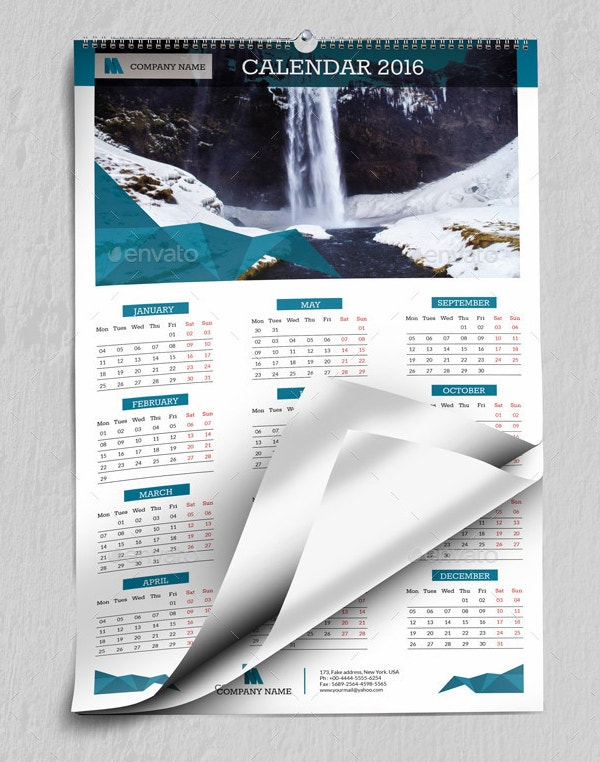 printable wall calendar template