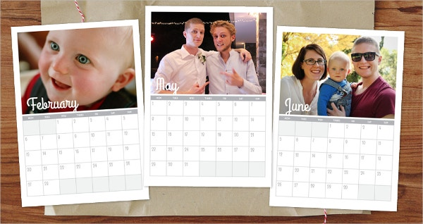 printable family photo calendar template