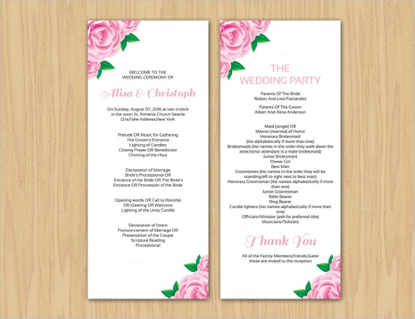 wedding ceremony brochure elita aisushi co