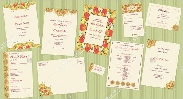 vector wedding Program template