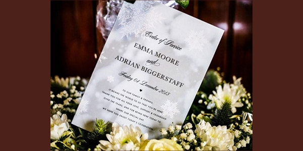 Winter Wedding Program Template