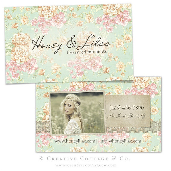 vintage floral business card template