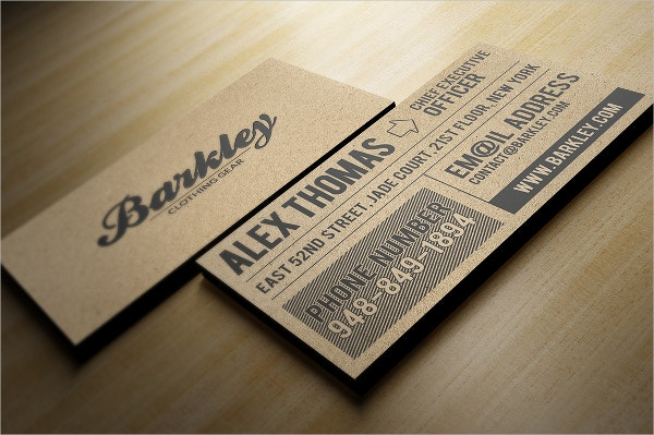 kraft paper business cards bundle - Kraft Paper Business Cards