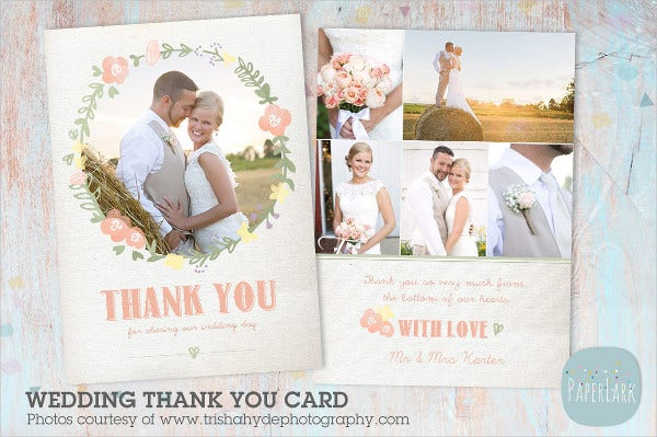 lovable couple wedding thank you card