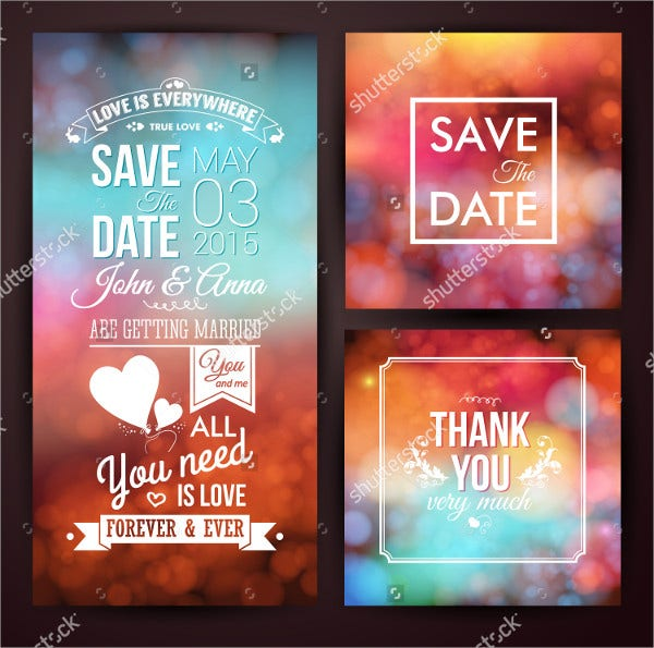 save the date wedding thank you card