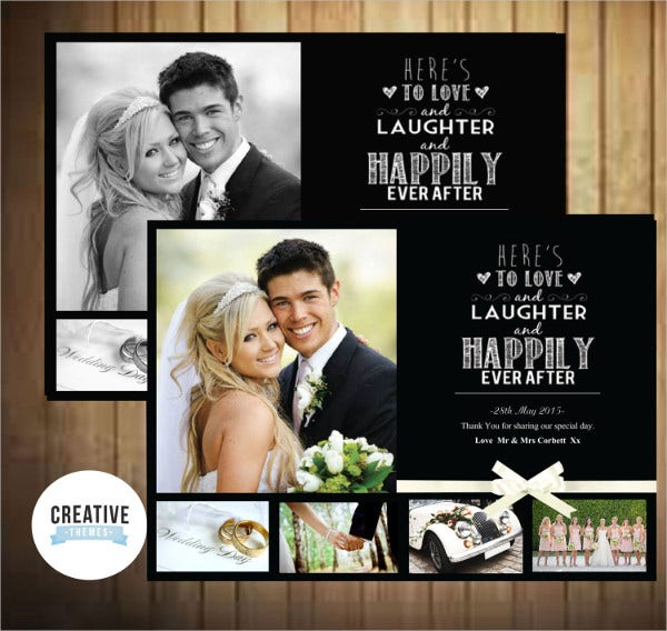 love laughter wedding thank you card
