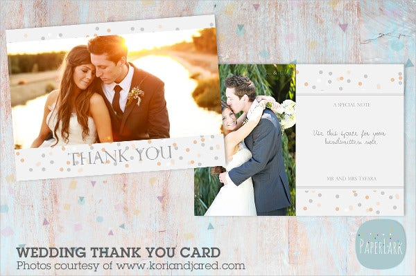 engagement thank you card