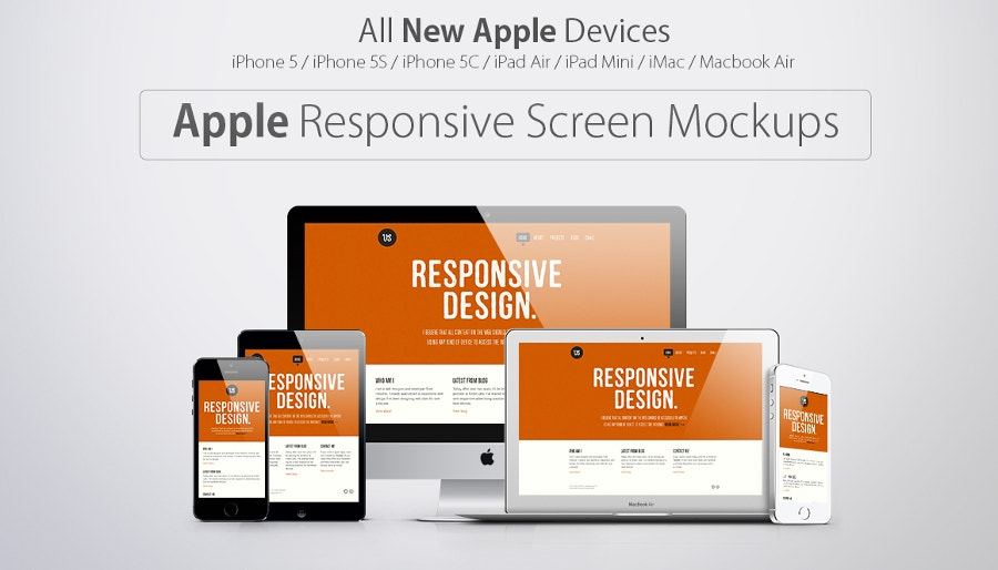 responsive apple screen mockups