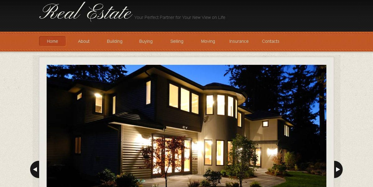 Real Estate & residential properties Moto CMS Template $139