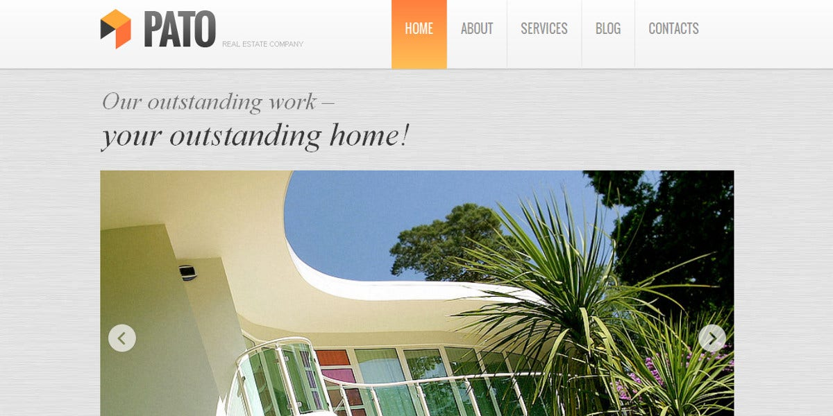 Real Estate Company Moto CMS Template $139