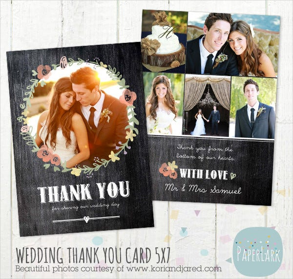 on sale wedding thank you card