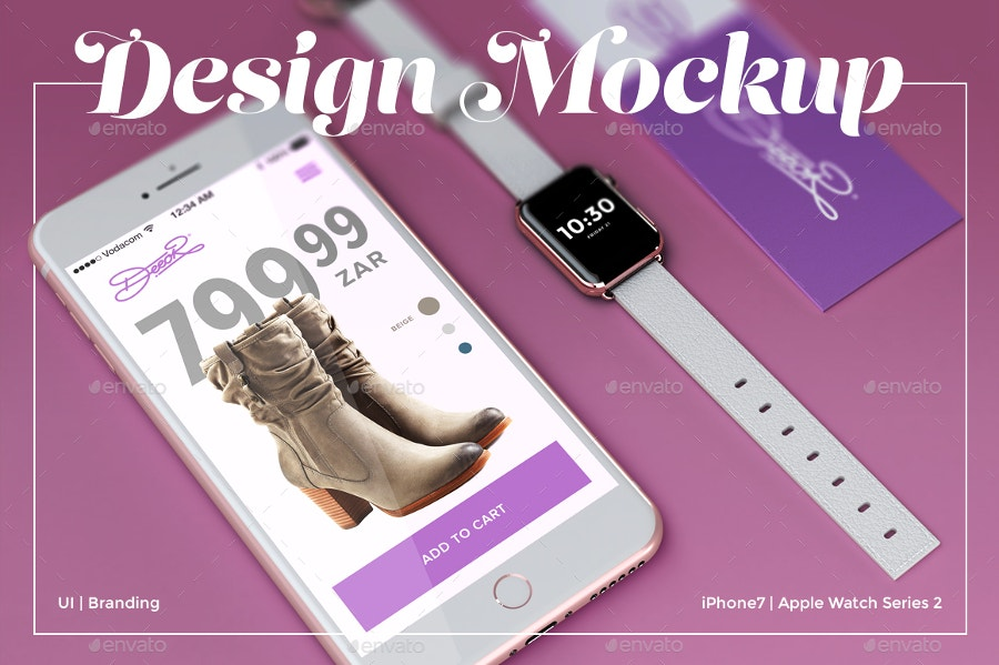 website design branding apple mockup