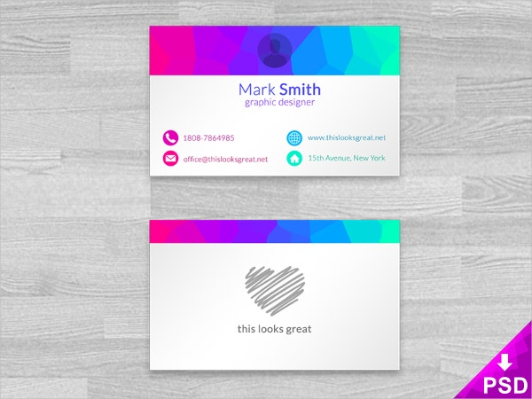 25 free business cards psd vector eps png format download colorful business card cheaphphosting Images