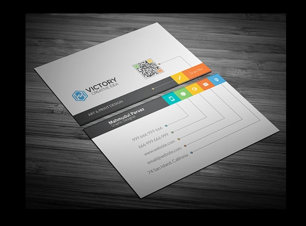 business card template design