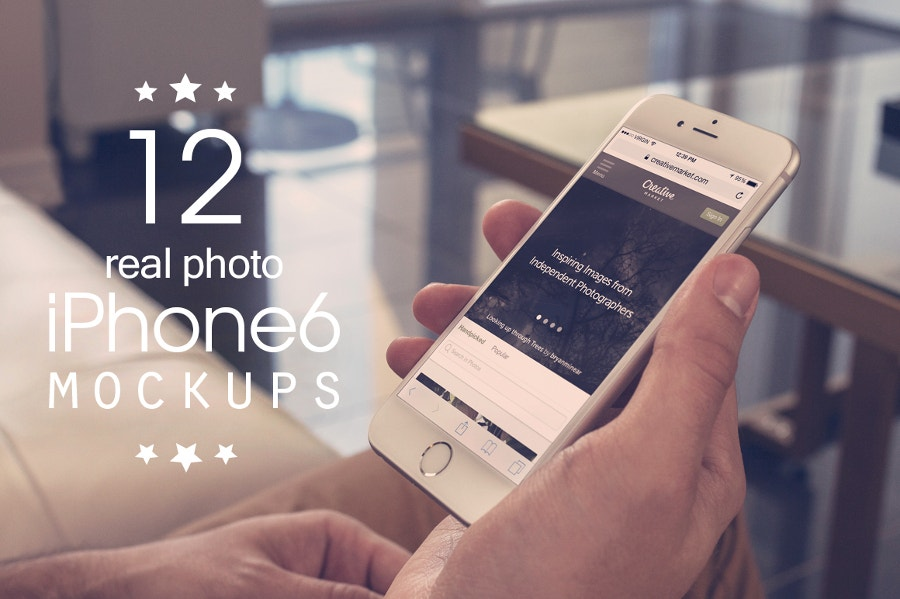 12 iphone 6s real photo mockups