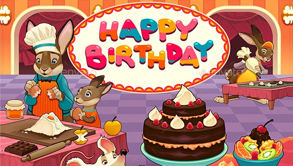 19 Funny Happy Birthday Cards Free Psd Illustrator Eps Format Download Free Premium Templates