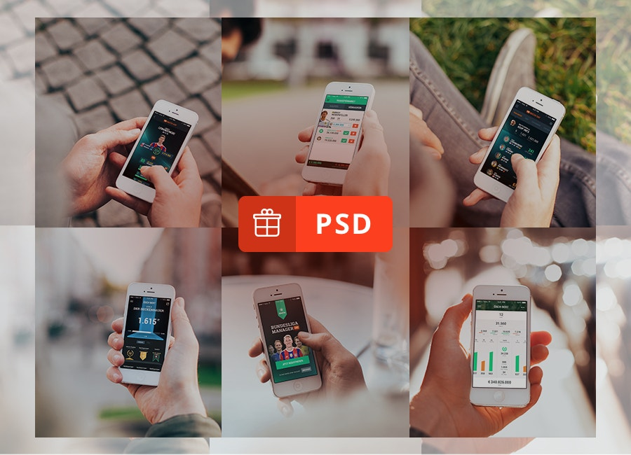 realistic iphone 5 mockups psd download